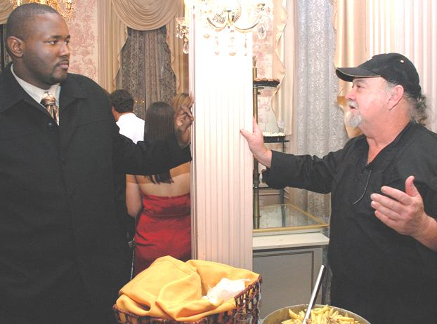 Actor Quinton Aaron and Chef Emile Stieffel
