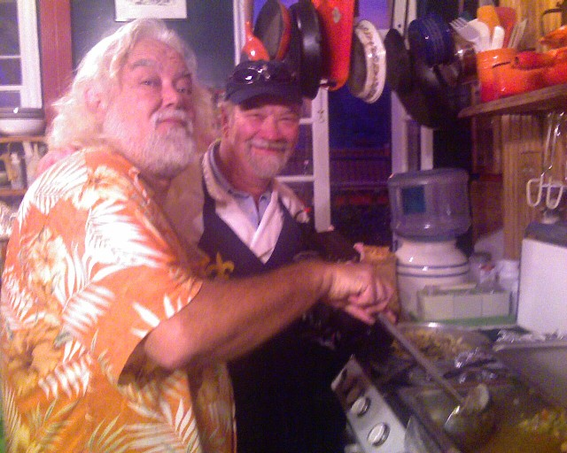 Hubie Vigreaux and Chef Emile
