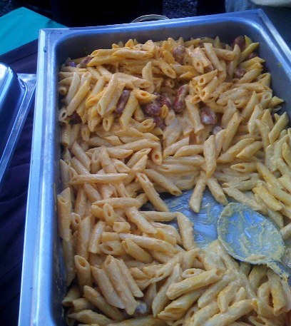Smokies with Cheesy Penne Pasta