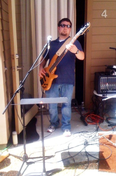 Dustin Hymel bass guitar