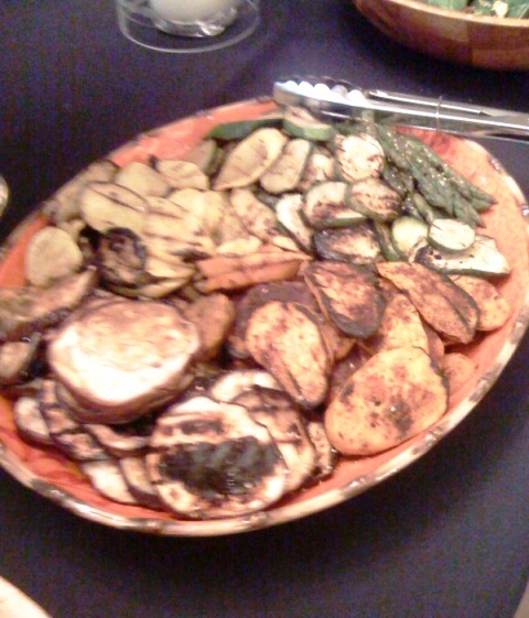 Flash Grilled Eggplant, Squash, Asparagus and Zucchini Medallions