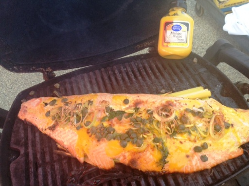 Mango Mustard Salmon Filet