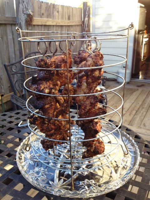 Oil-Less fried chicken wings.
