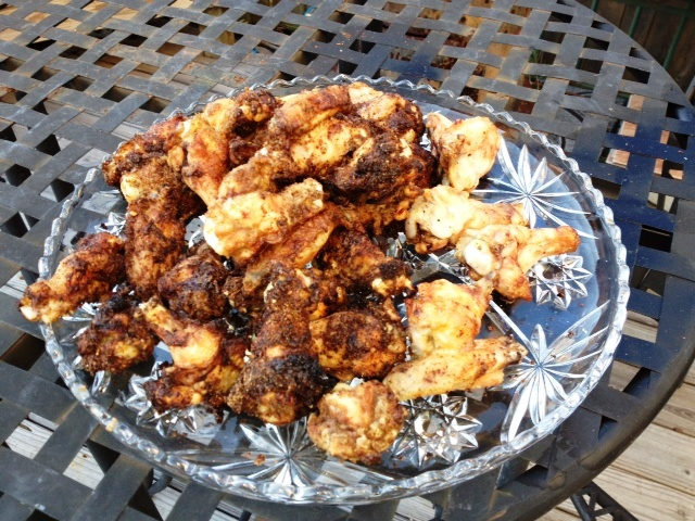 Platter of Oil-Less Fried Chicken Wings