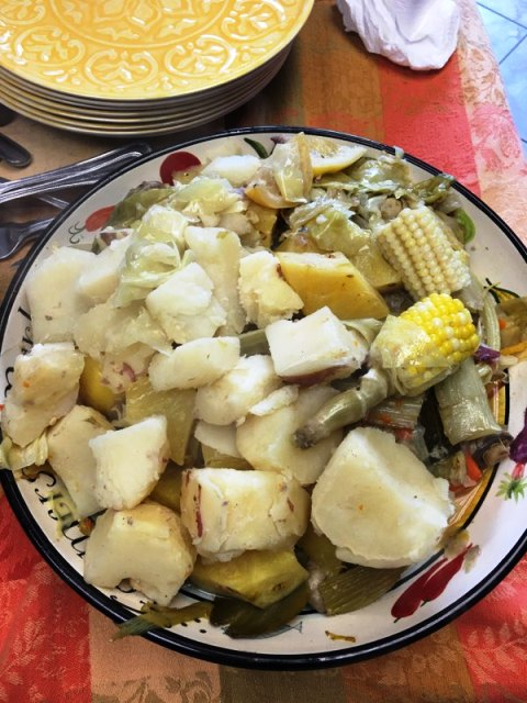 Vegetables after boiling corned beef recipe
