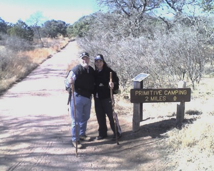 Ann and I, Enchanted Rock Loop Trail