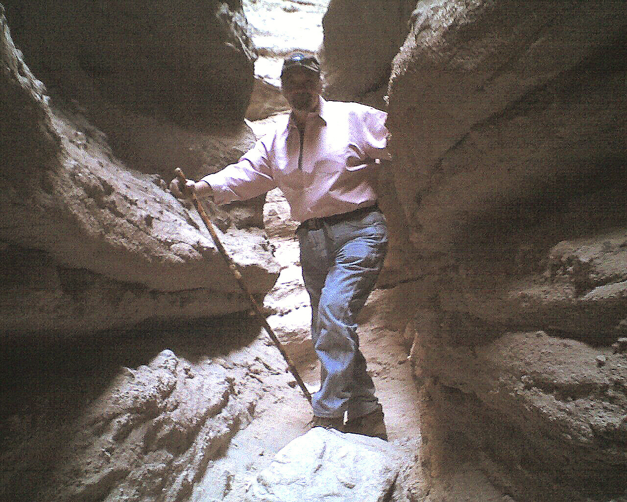 Emile, Ladders Trail, Slot and Painted Canyon, Mecca, CA